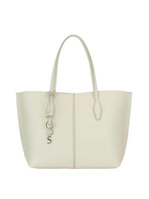 Tod'S: totes bags - Joy white medium shopping bag
