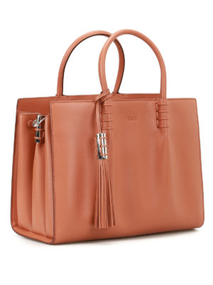 Tod'S: totes bags online - Accordion sides leather bag