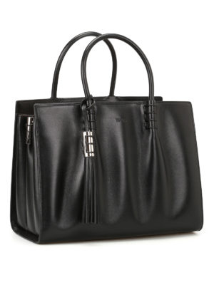 Tod'S: totes bags online - Accordion sides leather tote