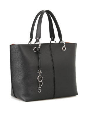Tod'S: totes bags online - Black leather medium tote