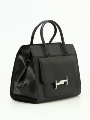 Tod'S: totes bags online - Double T medium leather handbag