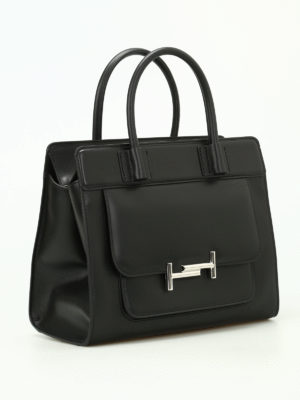 Tod'S: totes bags online - Double T smooth leather tote