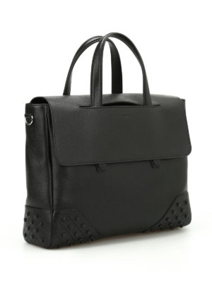 Tod'S: totes bags online - Gommini hammered leather tote