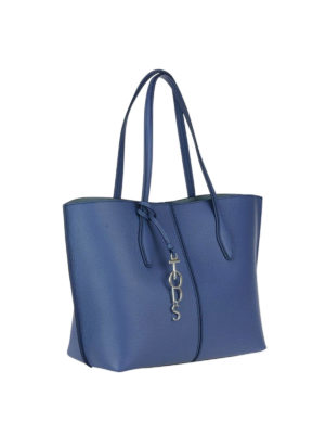 Tod'S: totes bags online - Joy blue medium shopping bag