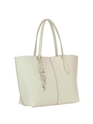 Tod'S: totes bags online - Joy white medium shopping bag