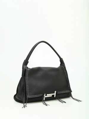 Tod'S: totes bags online - Leather tote with fringes