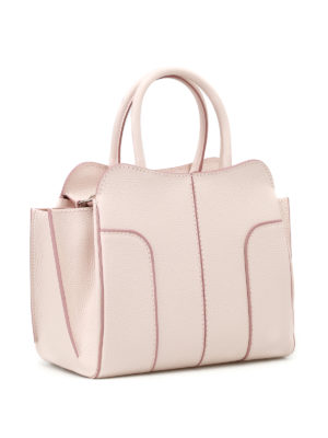 Tod'S: totes bags online - Light pink leather small tote