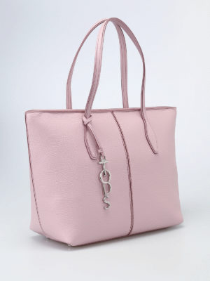 Tod'S: totes bags online - Pink leather medium tote