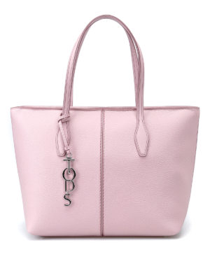 Tod'S: totes bags - Pink leather medium tote