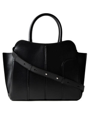 Tod'S: totes bags - Sella small black leather tote