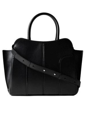TOD'S: shopper - Tote Sella piccola in pelle nera