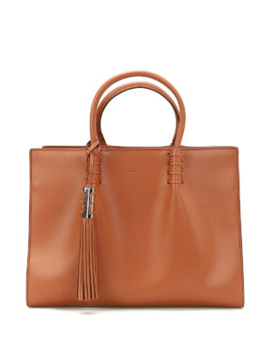 Tod'S: totes bags - Smooth leather medium shopping bag