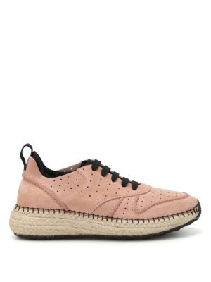 Tod'S: trainers - 29A raffia midsole suede sneakers