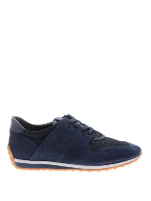 Tod'S: trainers - 70A unstructured blue sneakers