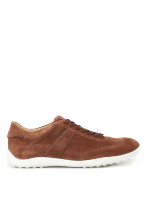 Tod'S: trainers - Active 08A brown suede sneakers