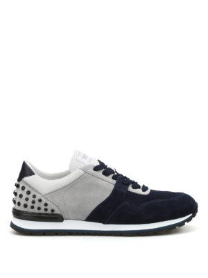 Tod'S: trainers - Bicolour suede and fabric sneakers