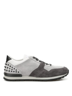 Tod'S: trainers - Bicolour suede sneakers