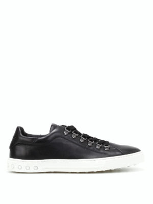 Tod'S: trainers - Black leather low top sneakers