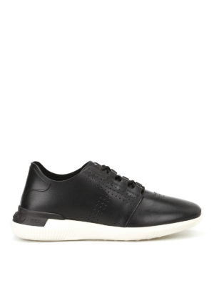 Tod'S: trainers - Black smooth leather sneakers