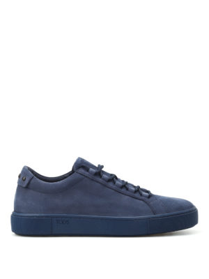 Tod'S: trainers - Blue soft nubuck sneakers