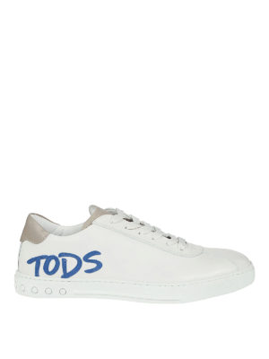 Tod'S: trainers - Contrasting logo lettering sneakers