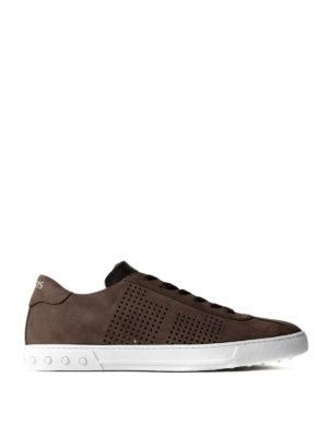 Tod'S: trainers - Dark brown suede low top sneakers