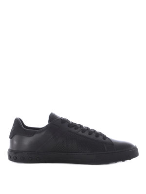 Tod'S: trainers - Drilled sides leather sneakers