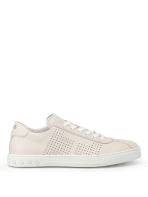 Tod'S: trainers - Drilled sides soft leather sneakers