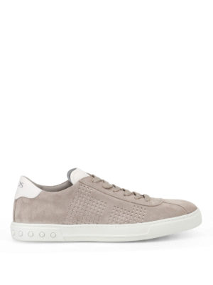 Tod'S: trainers - Drilled sides suede sneakers