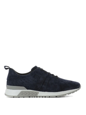 Tod'S: trainers - Drilled suede sneakers
