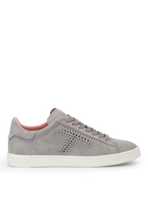 Tod'S: trainers - Drilled T suede sneakers