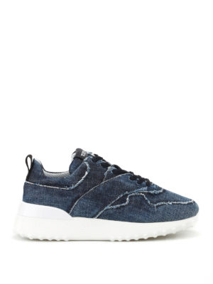 Tod'S: trainers - Faded denim sneakers