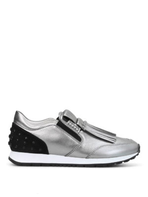 Tod'S: trainers - Fringe detailed slip-on sneakers