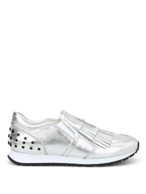 Tod'S: trainers - Fringed leather slip-ons