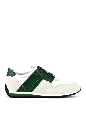 TOD'S: sneakers - Sneaker con dettagli verdi