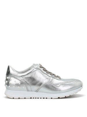 Tod'S: trainers - Leather sneakers with pebbles
