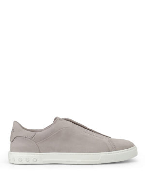 Tod'S: trainers - Light grey nubuck slip-ons