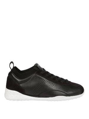 TOD'S: sneakers - Sneaker basse in pelle e camoscio