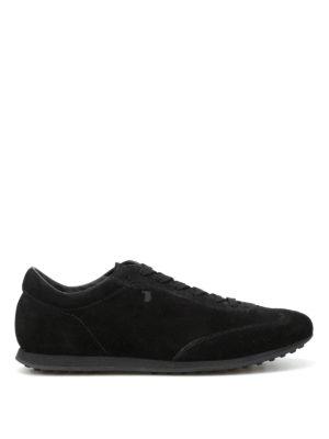 Tod'S: trainers - Low top suede lace-up sneakers