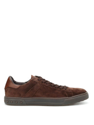 Tod'S: trainers - Low top suede sneakers
