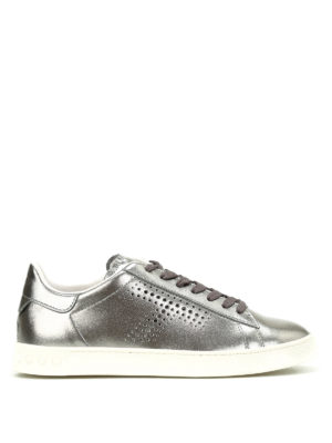 Tod'S: trainers - Metallic leather sneakers