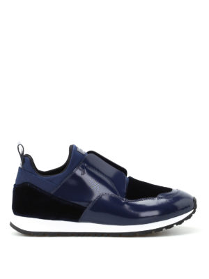 Tod'S: trainers - Multi fabric slip on blue sneakers