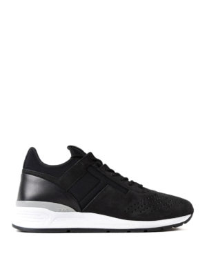 Tod'S: trainers - Nubuck and scuba black sneakers