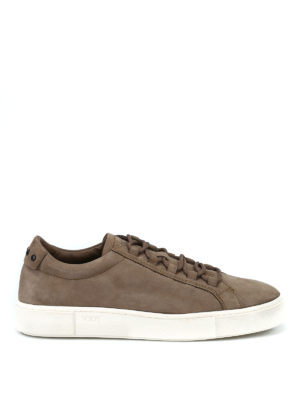 TOD'S: sneakers - Sneaker in nabuk color nocciola