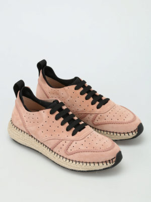 Tod'S: trainers online - 29A raffia midsole suede sneakers