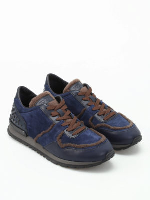 Tod'S: trainers online - Alldots shearling inserts sneakers