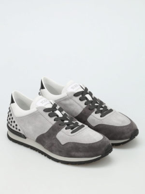 Tod'S: trainers online - Bicolour suede sneakers