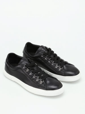 Tod'S: trainers online - Black leather low top sneakers