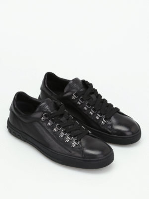 Tod'S: trainers online - Black leather low-top sneakers