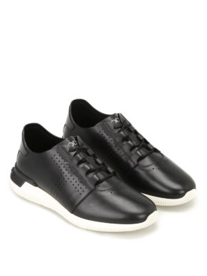 Tod'S: trainers online - Black smooth leather sneakers